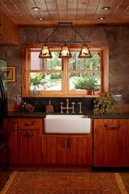 oak cabinets with a cherry stain woodworking custom