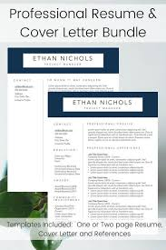 Professional Resume Builder Professional Resume Template Mens Resume Builder Navy And Silver Resume Layout Modern Sales Resume For Him Personal Brand Bundle
