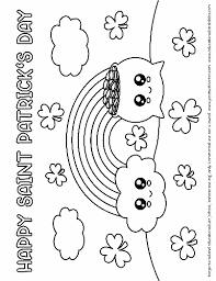A cultural and religious festival held there cannot be a perfect st patrick's day coloring page for you. Cute Saint Patrick S Day Coloring Pages