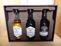 teeling trinity irish whiskey 3 x 5cl miniatures gift set