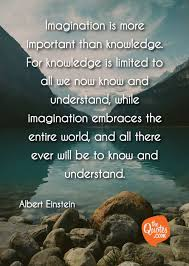 Imagination Is More Important Than Knowledge Albert Einstein Quotes