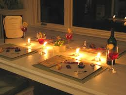 dining room designs candlelit dinner for two at home using white rectangle dining table and simple