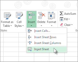 how to make a sheet in excel insert or delete a worksheet excel