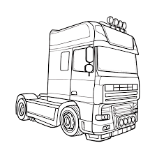 Leuk Voor Kids Kleurplaat Vrachtwagen Trekker Egyéb 2 3d