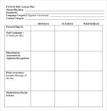 Free Printable Lesson Plan Template 20 Lesson Plan Template Free Printable Simple Template Design