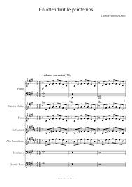Attendant Sheet En Attendant Le Printemps Sheet Music For Piano Flute