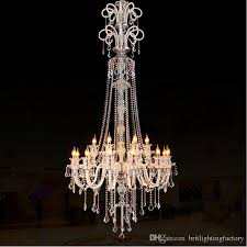large modern crystal chandelier for high ceiling extra large chandelier living room led luxury chandelier villa hall pendant lamp turquoise