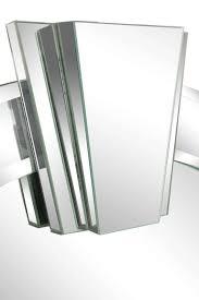 Art Deco Style Mirror In The Manner Of Karl Springer At 1Stdibs regarding Art  Deco Style
