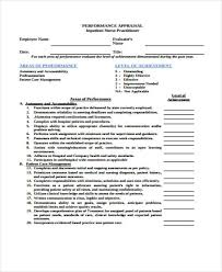 Performance Appraisal Form Format Magnificent 48 Appraisal Form Examples Sample Templates