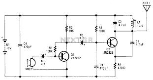 fm transmitter circuit rf circuits gr wireless fm microphone