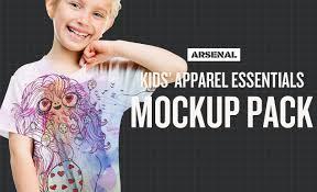 Free Templates For Kids Kids Apparel Essentials Mockup Templates Pack Kids T Shirt