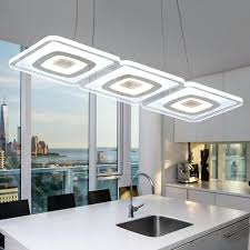 modern commercial lighting office pendant lights glass room square lamp kitchen fluorescent light fixtures extra large