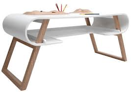 Furniture - Kids furniture - Rubens Children's desk by Compagnie - White -  Curved MDF,