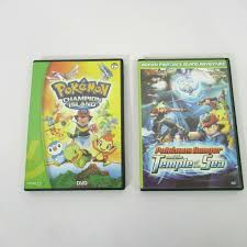 Pokemon Ranger Temple Of The Sea Champion Island Lot of 2 DVD Movie Music 4  Disc for sale online
