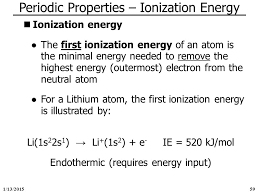 periodic properties ionization energy