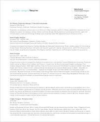 Senior Designer Resumes Sample Graphic Designer Resume 9 Examples In Word Pdf