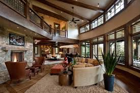 big living rooms. Rustic Great Room With Exposed Beams Big Living Rooms