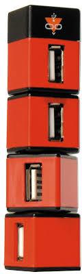 <b>USB</b>-концентратор <b>Konoos</b> UK-05 НЕБОСКРЕБ, красный ...