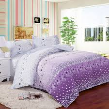 4pcs twin full size white purple orchid flowers white purple fl bedding girls comforter sets luxury bedding collections in bedding sets from home