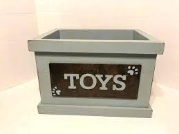 rustic wooden dog toy box pet toys storage bin custom by on ideas