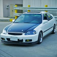 honda civic 2000 si. Plain Civic For 19992000 Honda Civic Si JDM Yellow Bumper Fog Lights Kit  Switch On 2000 1
