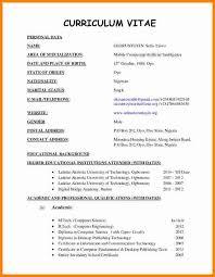 Sample Vitae Resume 73 Curriculum Vitae Sample Format Jscribes Com
