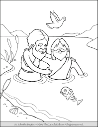 Coloring Pages Baptism Free Coloring Pages