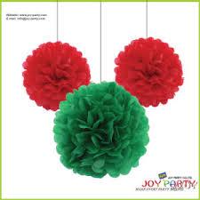 Tissue Paper Pom Poms Flower Balls Tissue Paper Flower Ball Pom Poms Garlands For Christmas Decoration