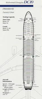 Vintage Airline Seat Map American Airlines Dc 10 Standard