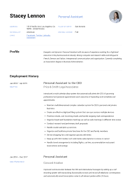 sample personal assistant resume personal assistant resume writing guide 12 templates