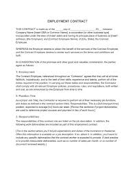 General manager contract is a type of employment contract used by companies and organizations at the time of hiring a person for the you can get free commercial contract template from here. Employment Contract Definition What To Include