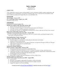 Objectiveor Social Work Resume Internship Example Worker Intern
