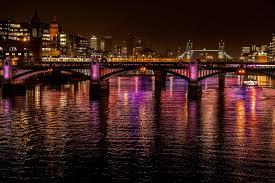wallpaper night city, city, bridge, lights, reflection, water HD :  Widescreen : High Definition : Fullscreen