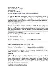 Import Export Resume Format – Snackapp.co