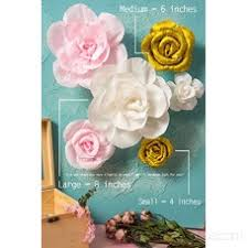 Paper Flower Archway Crepe Paper Flowers Set Of 6 Handcrafted Flowers For Gold