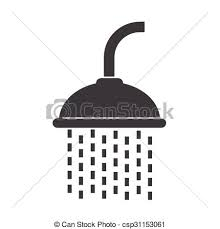 shower head clipart. Simple Clipart Showerhead Icon  Csp31153061 Intended Shower Head Clipart