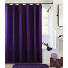 Fancy Shower fancy purple washed cotton shower curtain also mats of good cotton 2930 by xevi.us