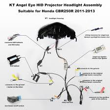 honda cbr250r angel eye hid projector headlight assembly 2011 2013 2012 honda cbr250r wiring diagram honda cbr250r angel eye hid led projector headlight assembly 2011 2013