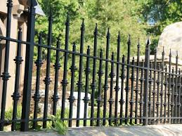 Wrought Iron Fence Used in Residential Area Park Swimming Pool