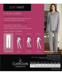 Cuddl Duds Marled Gray Soft Knit Lounge Pants Women Zulily