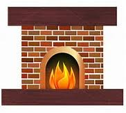 Image result for clip art fire place