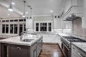 White Kitchen With Granite Countertops White Kitchen Cabinets With Black Granite Countertops Design