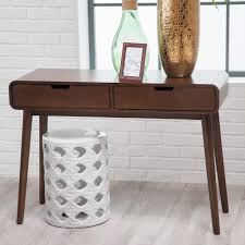 belham living carter mid century modern console table  hayneedle