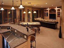 basement design ideas pictures. Ideas:Finished Basement Provided Bar Kitchen Granite Countertop Finished Design Ideas Pictures D