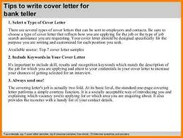 Download Cover Letter For Bank Teller Position