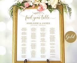 Gold Wedding Seating Chart Template Printable Wedding Seating Chart Poster Minimalist Elegant Seating Chart Signs Editable Vw38