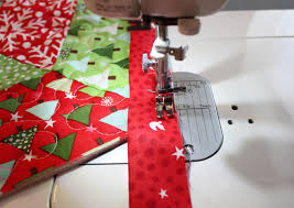 A Bright Corner: Binding Tutorial for Quilted Christmas Tree Skirt ... & Binding Tutorial for Christmas Tree Skirt Adamdwight.com