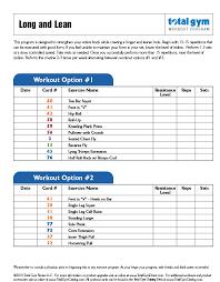 Gym Training Total Gym Training Deck Free Download