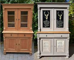 image of annie sloan chalk paint kitchen cabinets before and after