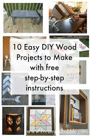 10 easy diy wood projects